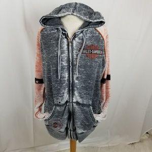 Harley-Davidson rhinestone hoodie